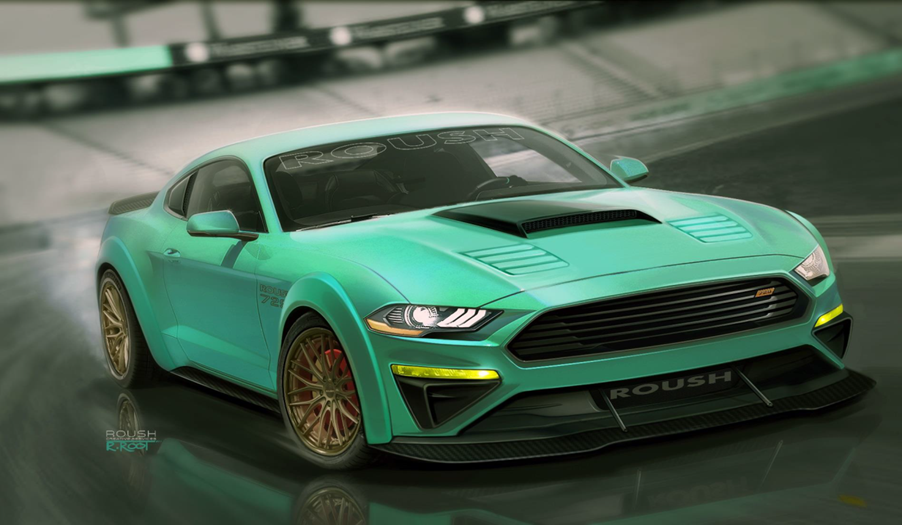 2018 Ford Mustang Roush 729 Widebody By Performance Rendering Fordsema