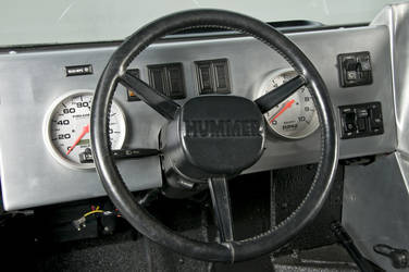 2006 HUMMER H1 | RCH Designs Custom Built Hummer H1 - Driver Steering Wheel