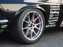 Hal Baer's 1969 Mustang Mach 1 on Forgeline One Piece Forged Monoblock GA1R Wheels - Close Up Shot