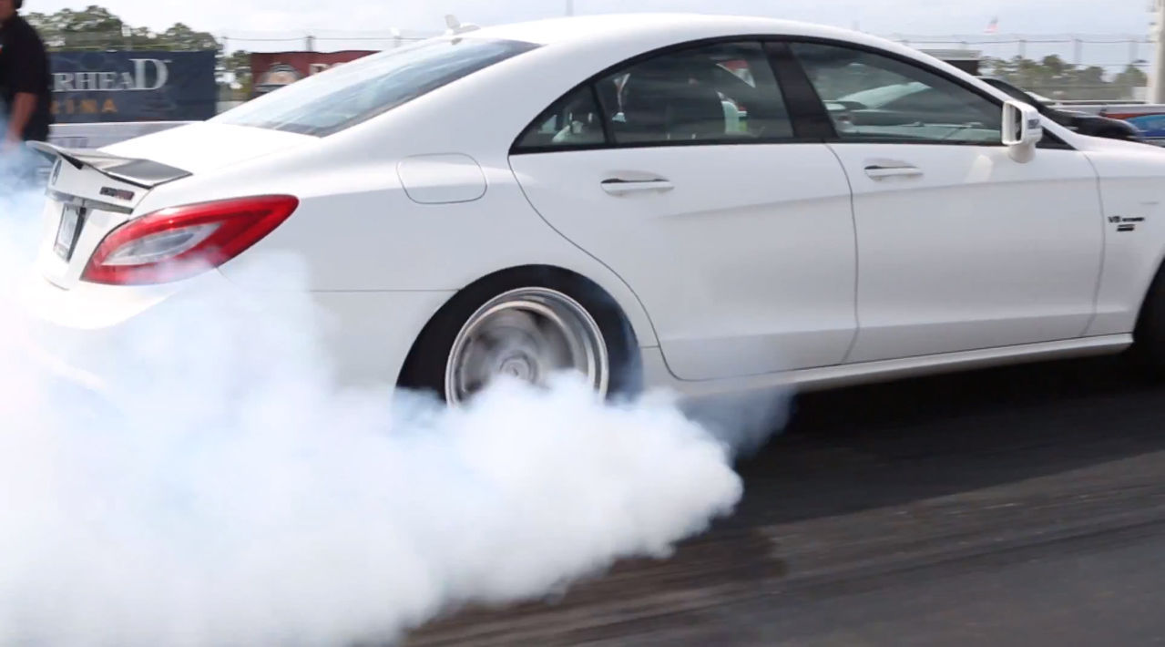 2013 Mercedes-Benz CLS-Class | ADV.1 Wheels Drag Racing PBIR Track Day
