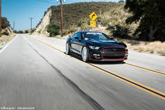 2015 Ford Mustang Fitted With 22 Inch BD-2's in Silver With Polished Face