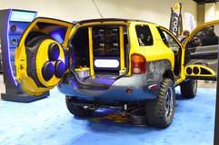 California Custom Sounds' Project Proton Isuzu VehiCROSS on Forgeline ST3P Wheels
