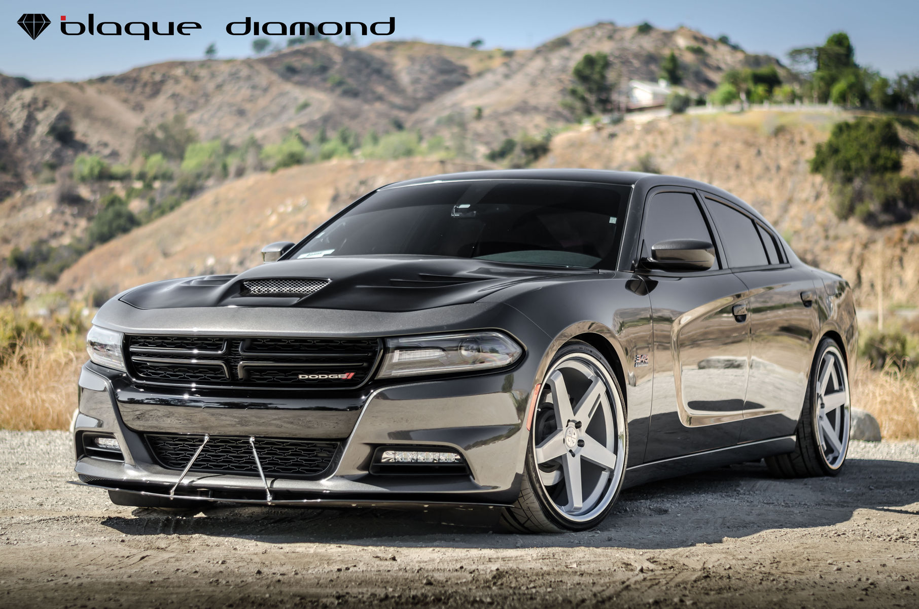 2016 Dodge Charger | 2016 Dodge Charger Fitted With 22 Inch BD-21's in Silver w/ Chrome SS Lip