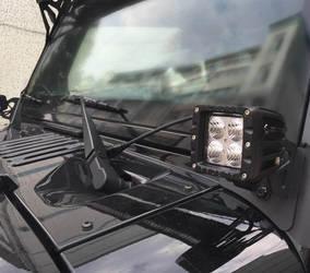 2016 Jeep Wrangler | Jeep Wrangler Pillar Mount Brackets for LED Lights