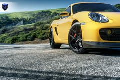 Yellow Porsche Boxster - Front Stance
