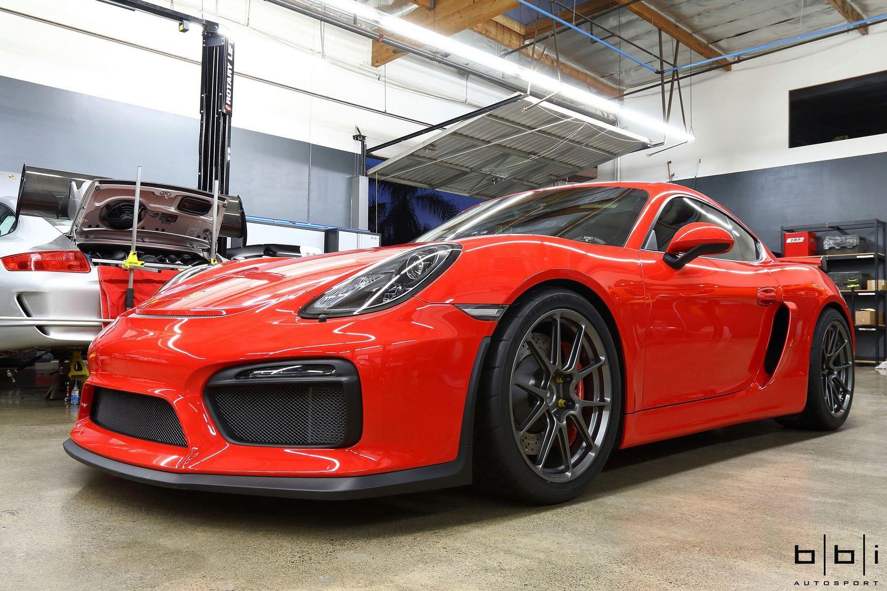 2017 Porsche Cayman   BBi Autosport Cayman GT4 on Forgeline One Piece Forged Monoblock GS1R Wheels
