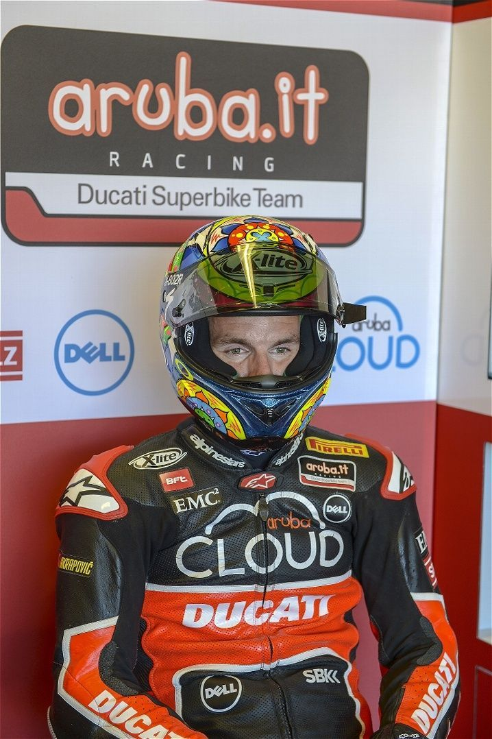 2015 Ducati Panigale R | Davies in concentration prior to hopping on the grid