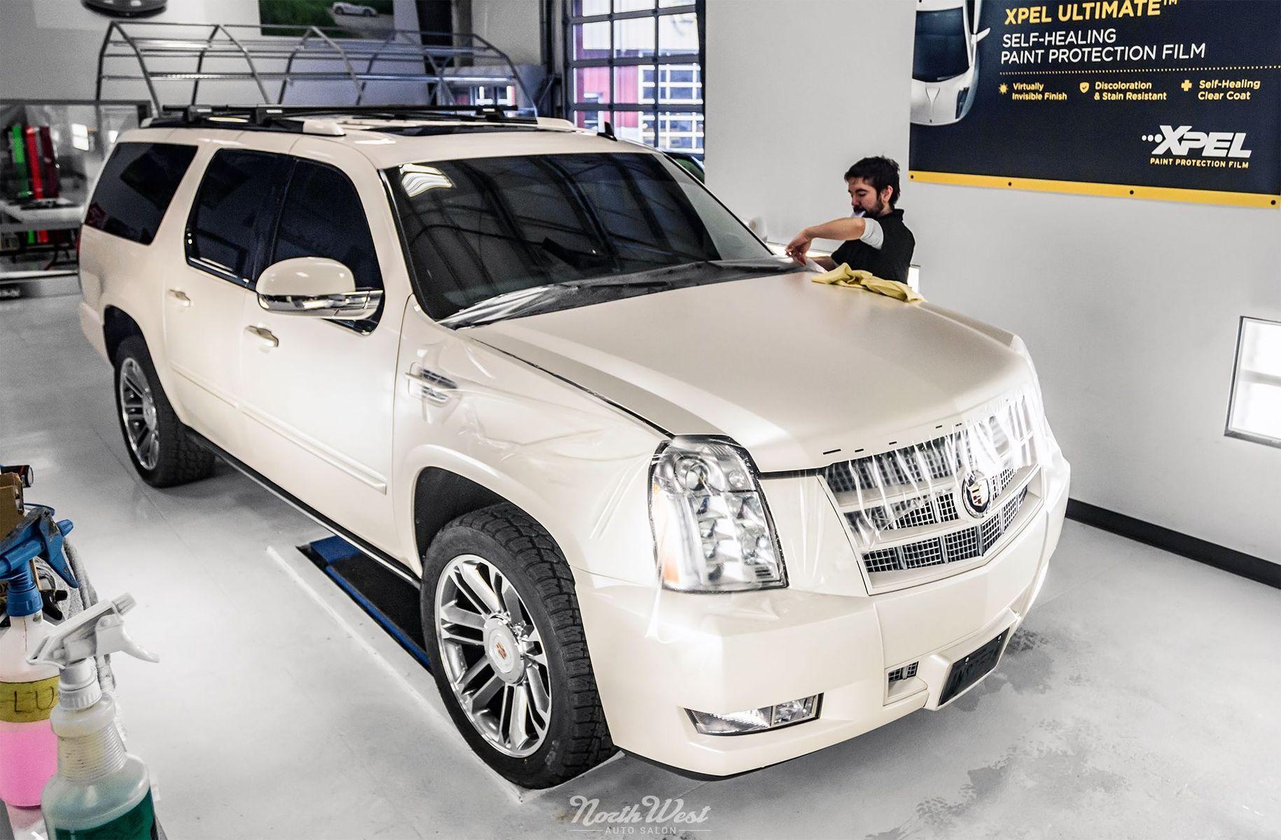 Cadillac Escalade | XPEL STEALTH Satin-Finish clear bra installation