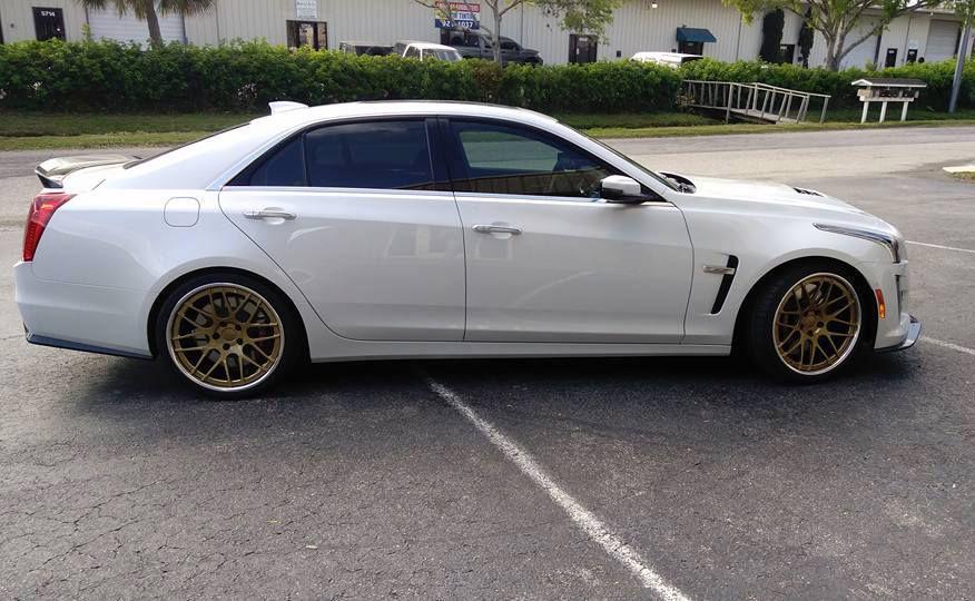 2017 Cadillac CTS-V | John's 2017 Cadillac CTS-V on Forgeline DE3C Wheels