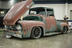 """Effin Confused"" 1956 Ford F100 Pickup Truck on Forgeline RB3C Wheels"