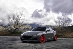 """Maserati Ghibli Q4 on 22"""" Avant Garde M615 Wheels - Under The Clouds"""