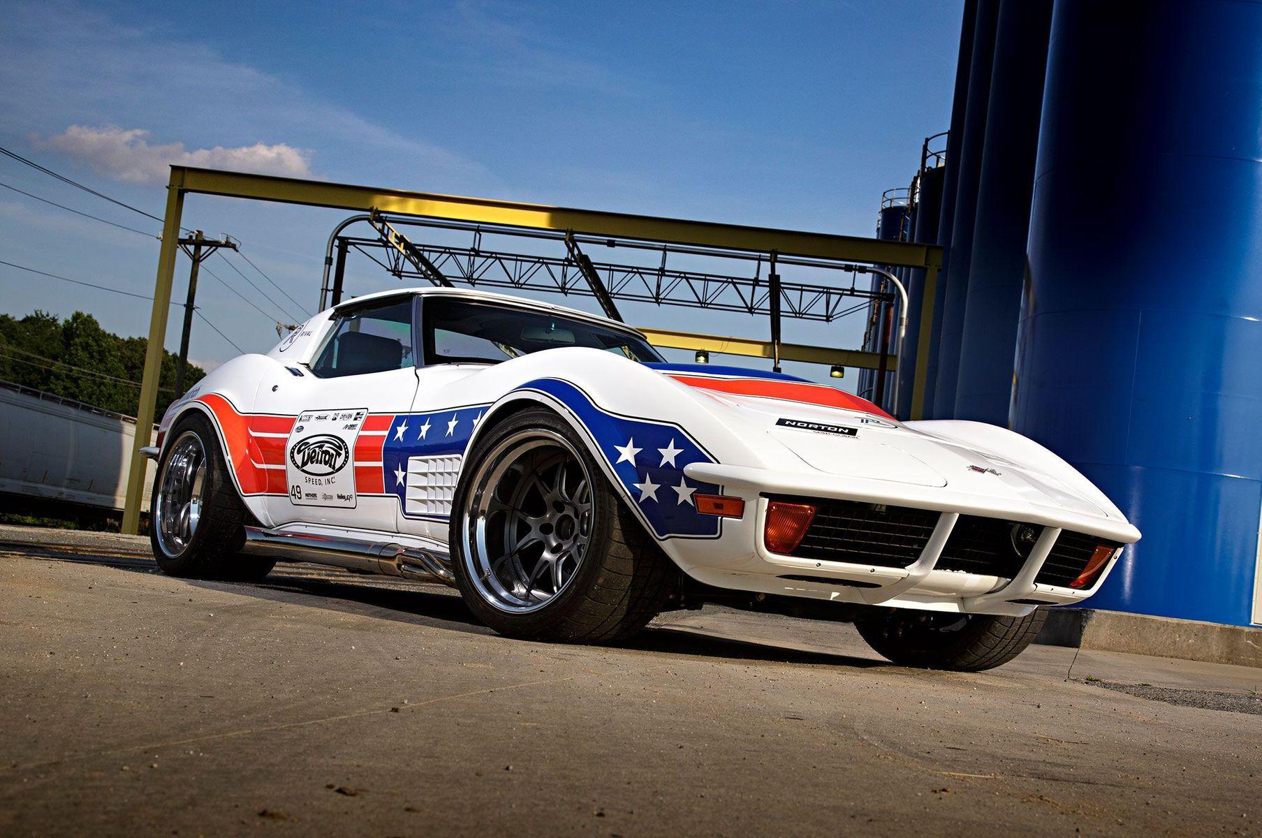 1972 Chevrolet Corvette Stingray | Detroit Speed's '72 Corvette on Forgeline GA3R Wheels