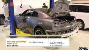 Black Jack Speed Shop's 2014 GT-R Black Edition gets full matte film XPEL STEALTH wrap