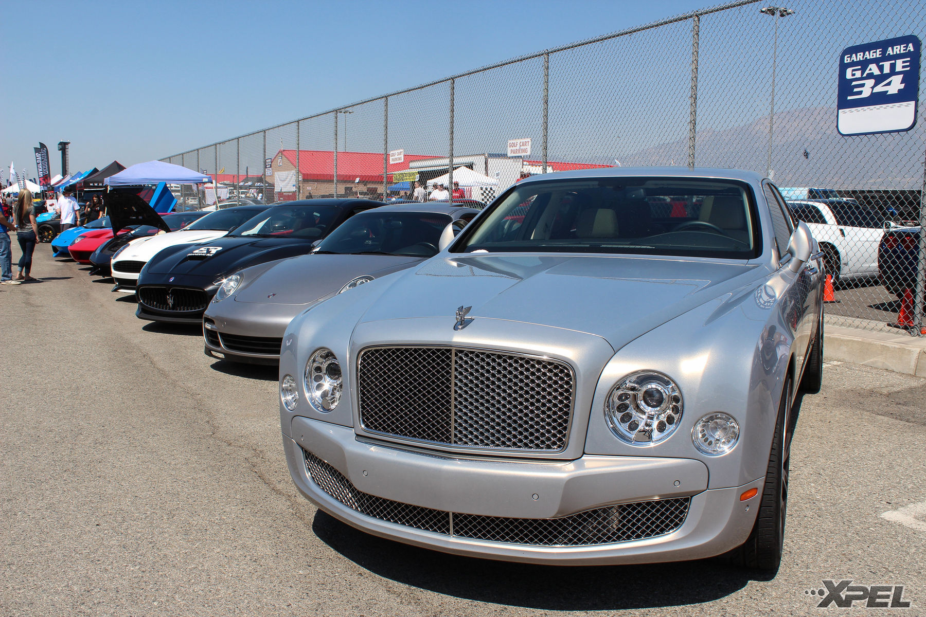 | Line up of powerful cars at the California Festival of Speed