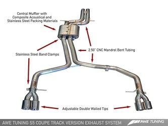 AWE Track Catback Exhaust System
