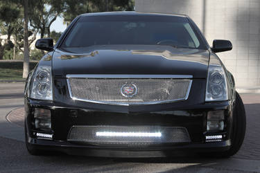 Sleek Cadillac CTS with Sr-Series lights