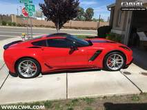 Red Chevrolet C7 Corvette Z06 on Forgeline One Piece Forged Monoblock VX1 Wheels
