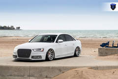 White Audi A4 - Front Angle