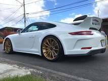 Enrique Thompson's Porsche 991 GT3 on Forgeline One Piece Forged Monoblock GT1 Wheels