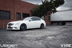 "Infiniti G37 on 20"" Velgen VMB8 Wheels - Left Fender Shot"