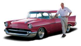 '57 Chevy and Vic Edelbrock