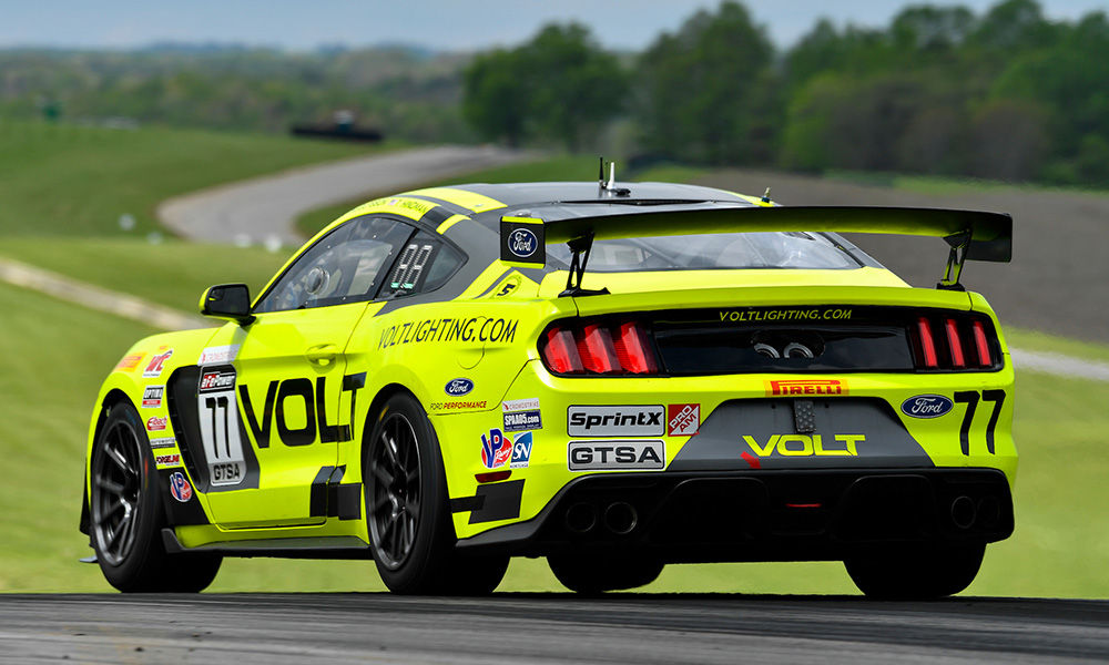 2018 Ford Mustang | VOLT Racing Mustang and Blackdog Speed Shop Camaro Dominate Pirelli World Challenge GTS-X Podium at VIR