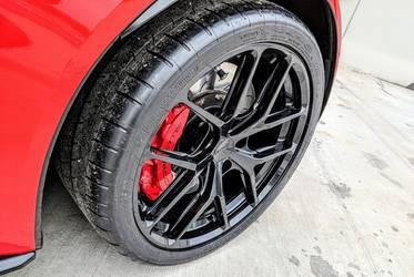 2018 Chevrolet Corvette Z06 | Red C7 Corvette Z06 on Forgeline One Piece Forged Monoblock VX1R Wheels from CW4L