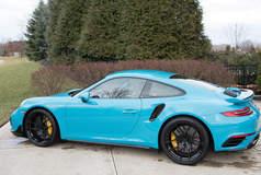 Mike Martin's Maui Blue 991 Porsche 911 Turbo S on Forgeline One Piece Forged Monoblock VX1R Wheels