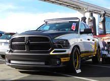 "Pfaff Designs ""Draggin Wagon"" Dodge Ram 1500 on Forgeline GA3C Wheels - Front Shot"
