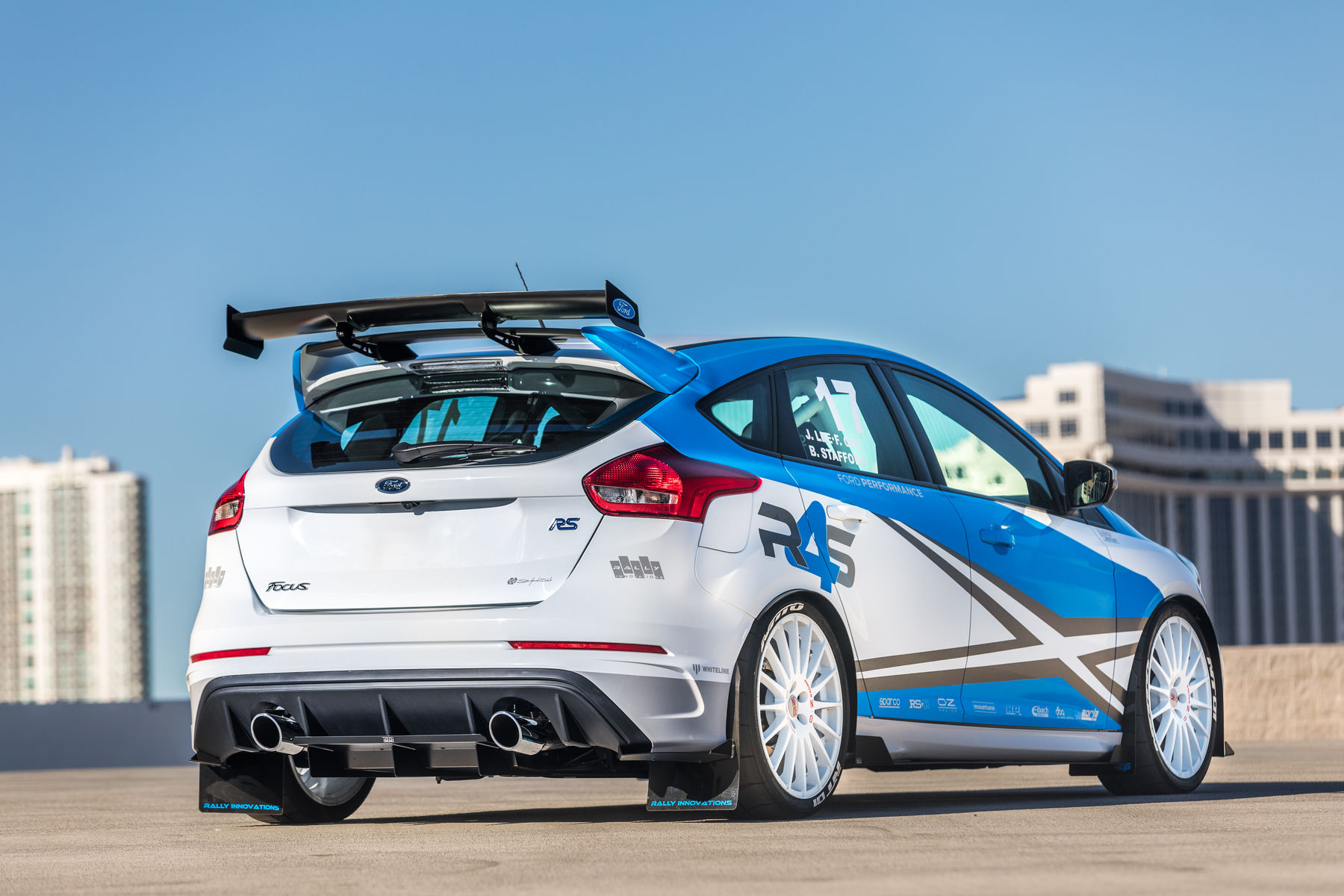 2017 ford focus rs by rally innovations rear outside. Black Bedroom Furniture Sets. Home Design Ideas