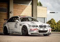 Rafael Riethmüller's BMW E46 M3 Reloaded Project on Forgeline One Piece Forged Monoblock GS1R Wheels