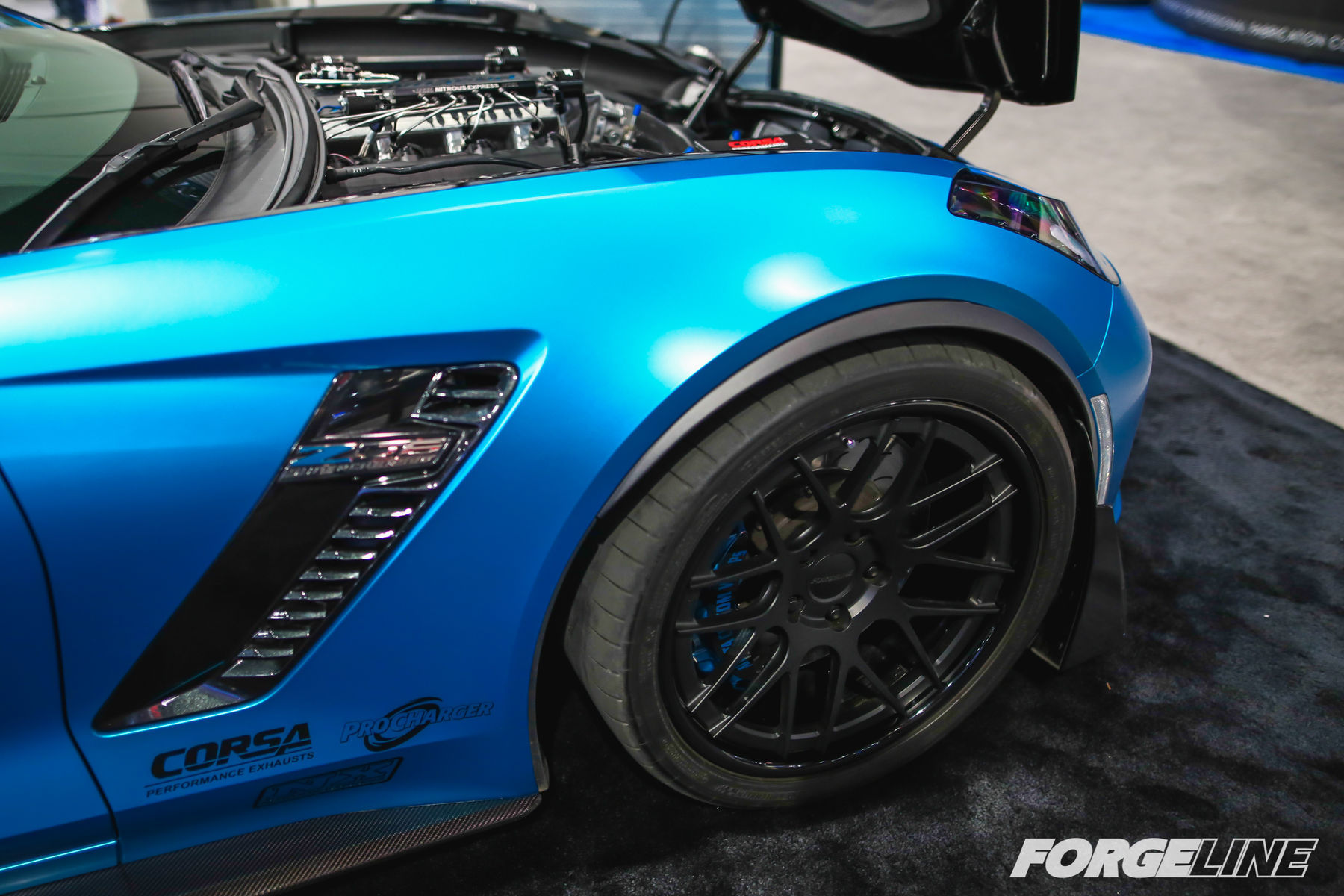 2015 Chevrolet Corvette Z06 | Atlanta Custom Wraps' 1128rwhp ProCharged C7 Corvette Z06 on Forgeline DE3C Concave Wheels