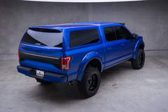 '15 Ford F-150 CrewCab by Leer - Rear Angled Shot