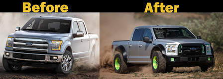 Vaughn Gittin Jrs F-150 STEALTH ULTIMATE FUN HAVER - Before And After