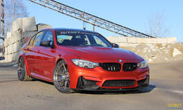 Turner Motorsport BMW F80 M3 Project Car on Forgeline One Piece Forged Monoblock GA1R Wheels