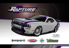 Rapture Dodge Challenger on Forgeline RB3C Concave Wheels