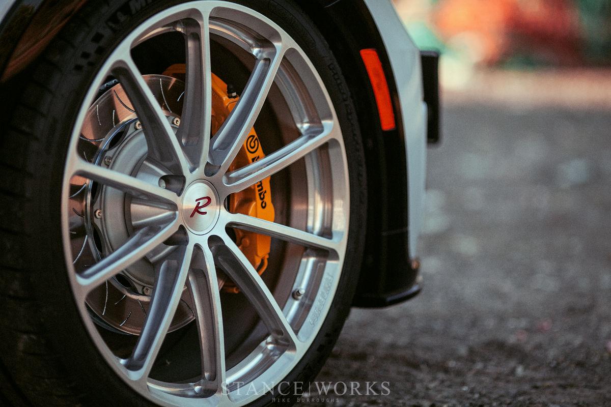 2017 Volkswagen Beetle | H&R's VW Beetle R-Line on Forgeline One Piece Forged Monoblock GT1 5-Lug Wheels