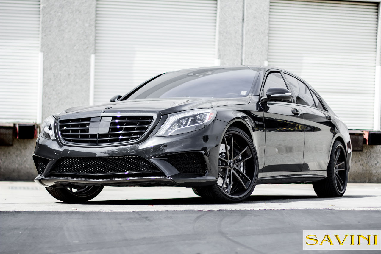 2014 Mercedes-Benz S-Class | 2014 Grey Mercedes-Banz S63 | Savini Wheels SV51-C