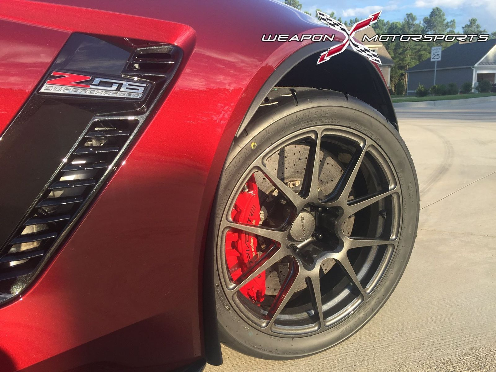 2016 Chevrolet Corvette Z06 | Eric Fleming's C7 Corvette Z06 on Forgeline One Piece Forged Monoblock GA1R Open Lug Cap Edition Wheels