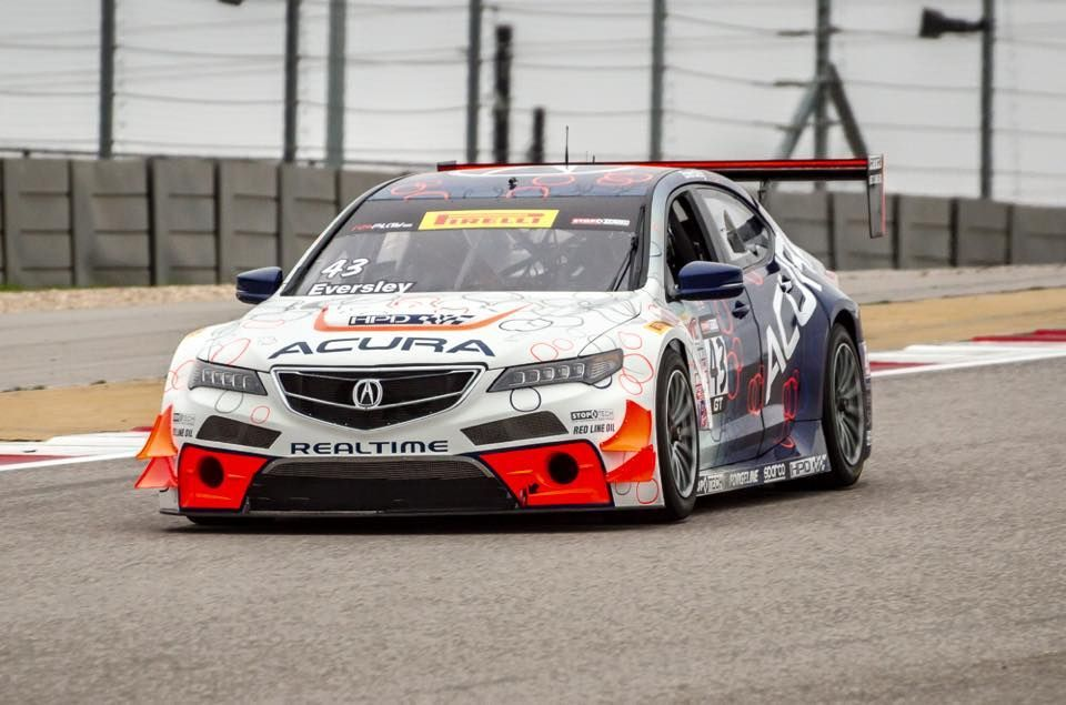 Acura TLX   RealTime Racing Testing at COTA