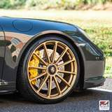 AWE Tuning 991 Porsche 911 Twin Turbo S on Forgeline GT1 Wheels