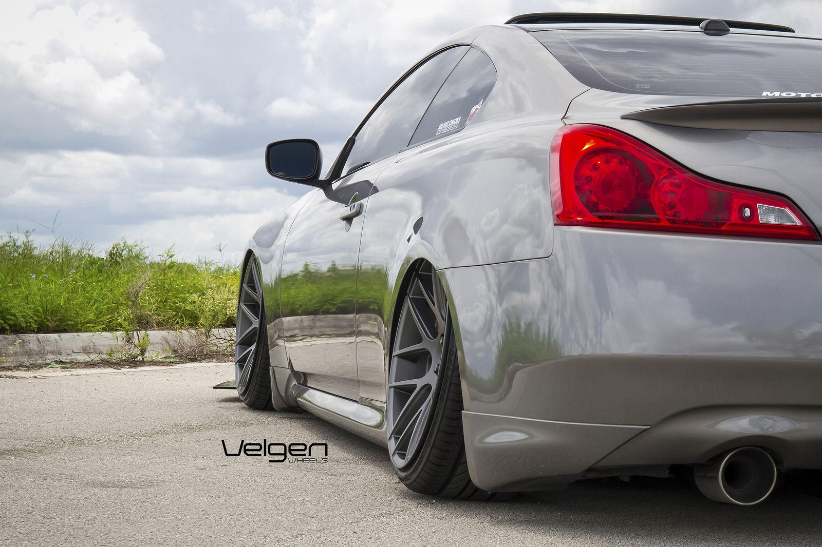 Infiniti G37 Coupe | Bagged Infiniti G37s on Velgen Wheels VMB7 - Fitment
