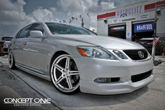 '10 Lexus GS350 on Concept One CS5.0's - Front Stance