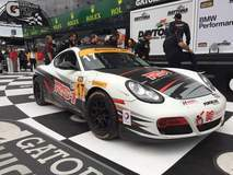 The RS1- The Race Development Center #17 Porsche Cayman on Forgeline GA3R wheels