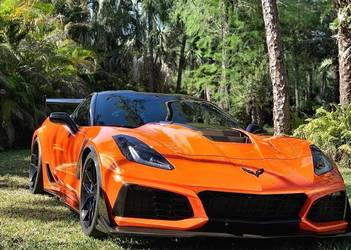 2019 Chevrolet Corvette ZR1 | Matt's Orange C7 Corvette ZR1 on Forgeline One Piece Forged Monoblock VX1 Wheels