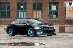 Black Nissan Maxima - Lights