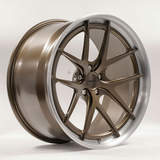 Forgeline VX3C-SL Stepped Lip Concave Wheel in Satin Bronze with Brushed Outer