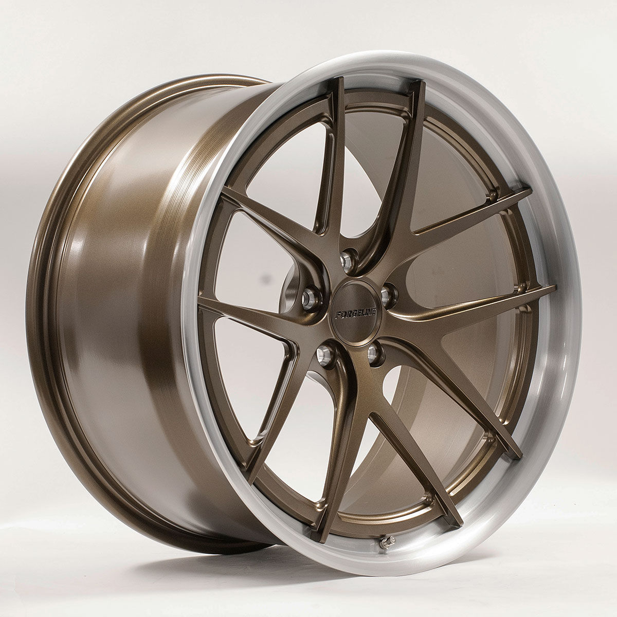 | Forgeline VX3C-SL Stepped Lip Concave Wheel in Satin Bronze with Brushed Outer