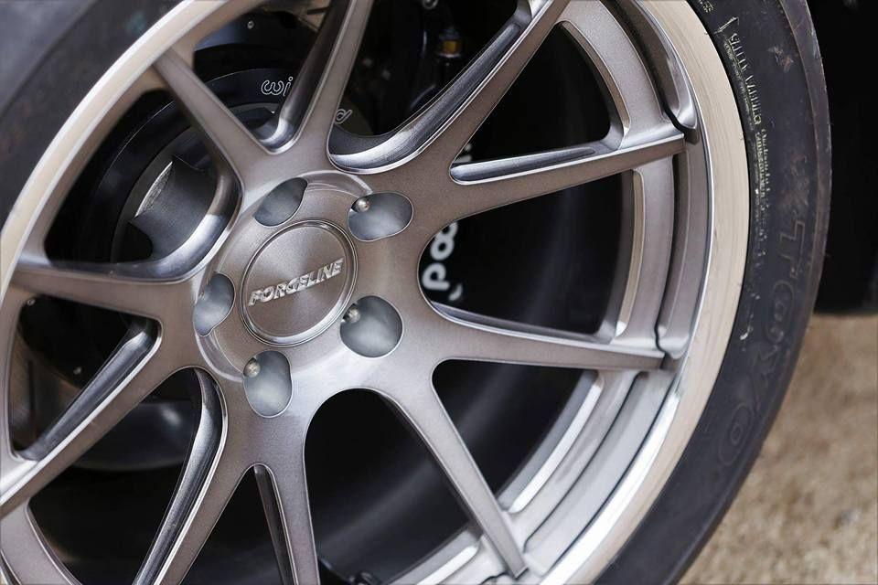 1996 Ford Mustang SVT Cobra | Mika Kosola's Mustang Cobra SVT Convertible on Forgeline GA3C Concave Wheels