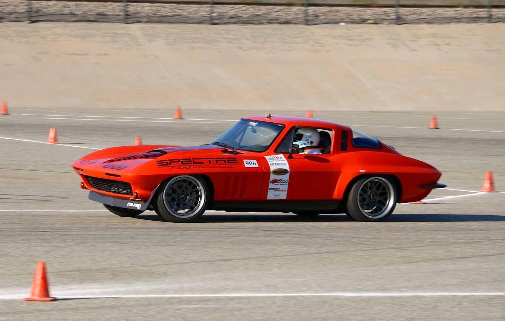 1965 Chevrolet Corvette Stingray | Greg Thurmond Wins Classic Muscle Class at NMCA West Autocross in his '65 SCAR Corvette on Forgeline DE3C Concave Wheels